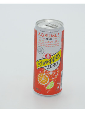 Schweppes agrumes zero 33cl