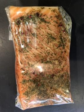 Saumon mariné à l'Aneth environ 300 grs