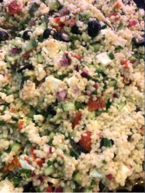 Salade de perles de couscous et Feta