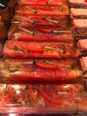 Buchette au saumon et asperges