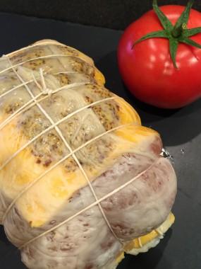 Roti de dinde au cheddar et moutarde à l'ancienne