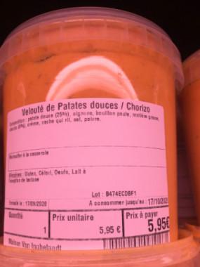 Velouté de Patates douces / Chorizo